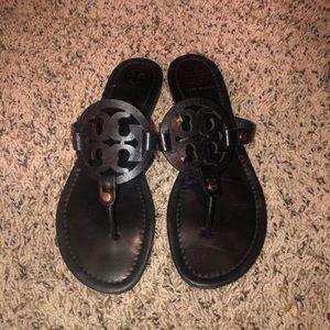 Tory Burch Miller sandals matte black